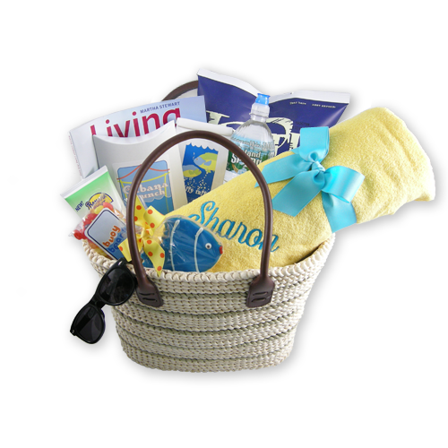 A Day at the Beach Gift Basket