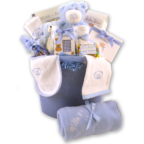 Load image into Gallery viewer, Bear Necessities Baby Boy Gift Basket