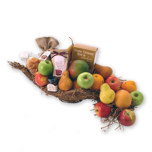 Fall Harvest Cornucopia Autumn Gift Basket