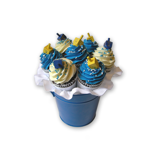 Load image into Gallery viewer, Dreidel Cupcake Bouquet