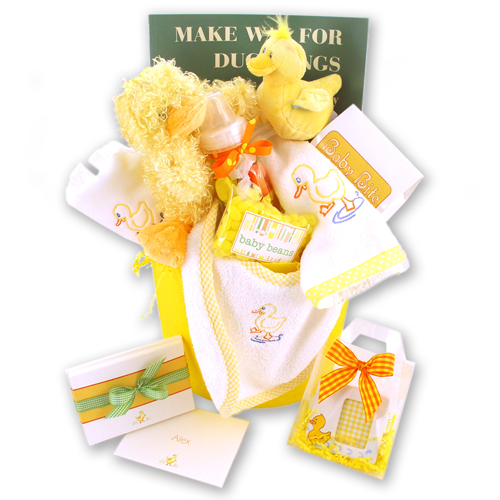 New Baby Gift Baskets Boston : Make way for ducklings baby gift basket