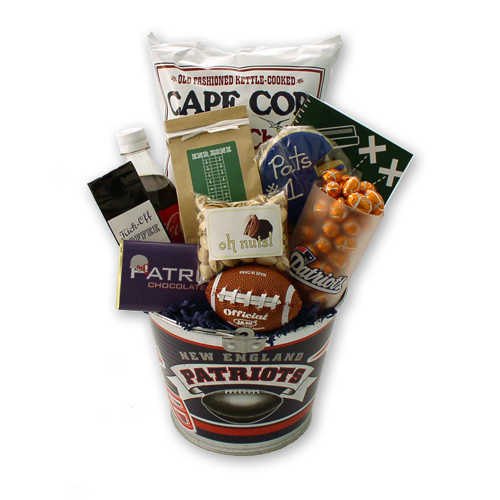 Go Patriots! Football Gift Basket
