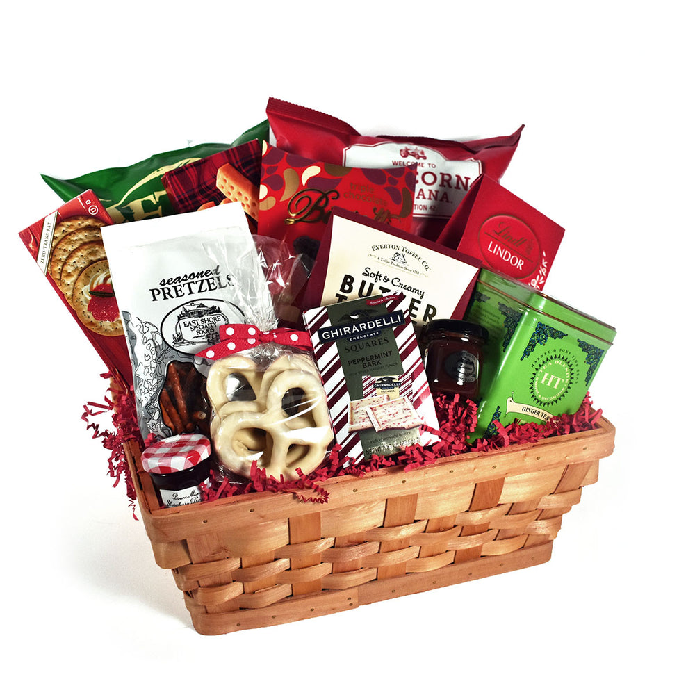Load image into Gallery viewer, Holiday Cheer Christmas Gift Basket