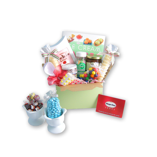 Ice Cream Sundae Gift Basket