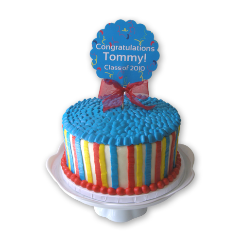 Load image into Gallery viewer, Multi Stripe Cake - 8""