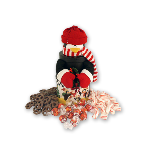 Plush Penguin Holiday Gift Box