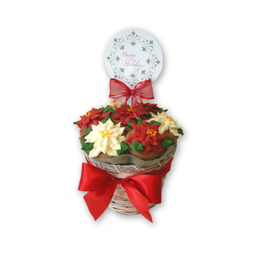 Poinsettia Cupcake Bouquet