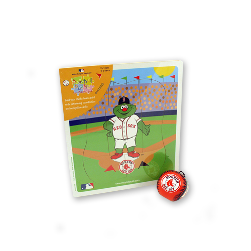 Red Sox Puzzle & Soft Ball Kids Gift