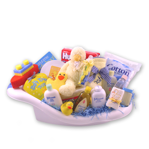 Load image into Gallery viewer, Rub a Dub Baby Bath Gift Basket