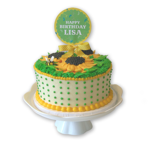 Load image into Gallery viewer, Sunflower Cake - 8""