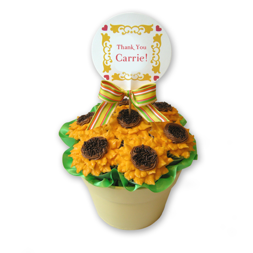 Thank You Sunflowers Cupcake Bouquet