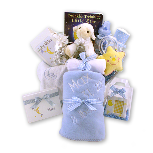 Twinkle Twinkle Little Star Baby Boy Gift Basket