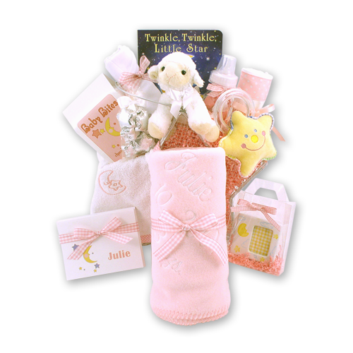Twinkle Twinkle Little Star Baby Girl Gift Basket