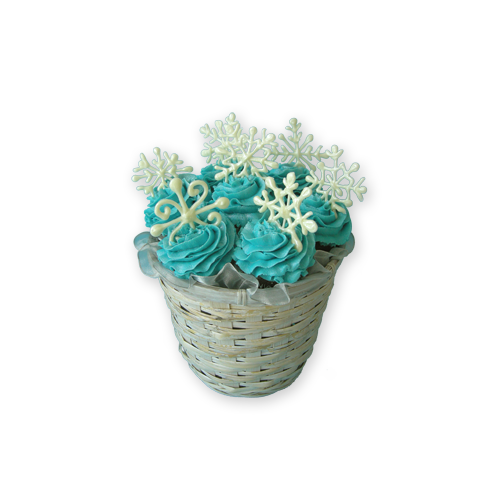 Snowflake Cupcake Bouquet