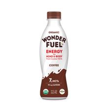 Wonder FUEL Energy for Mind and Body with Coconut MCT's - COFFEE (case of 6)