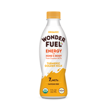 Wonder FUEL Energy for Mind and Body with Coconut MCT's - TURMERIC GOLDEN MILK (case of 6)