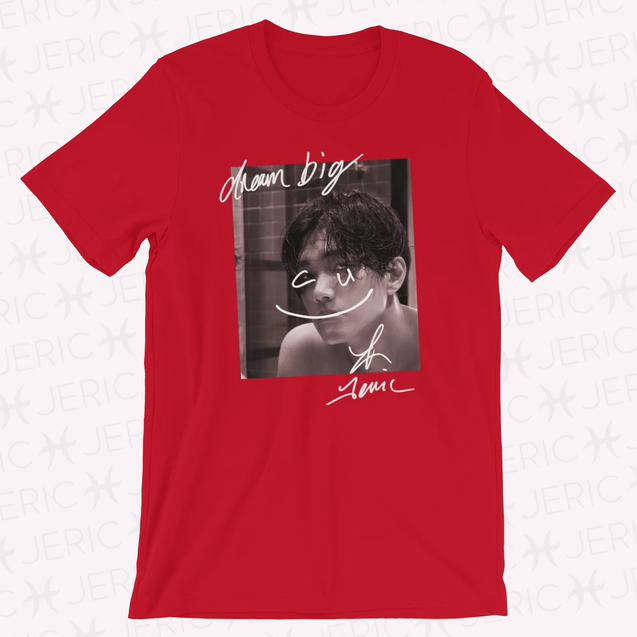 DREAM BIG C U Unisex T-Shirt Premium RED Limited Edition 偷偷看你 C U 大大的夢想 限量 男女款 T-shirt