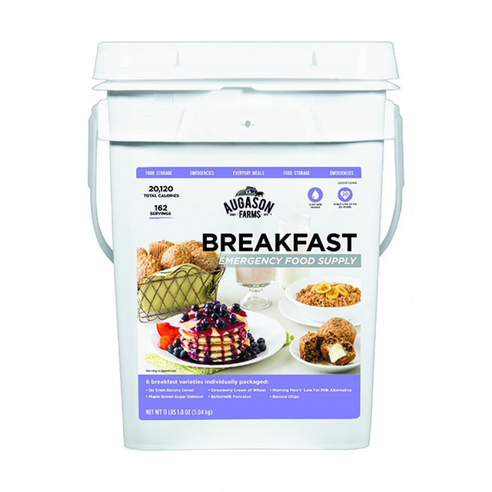 Auguson Farms Emergency Food Supply Breakfast Pail