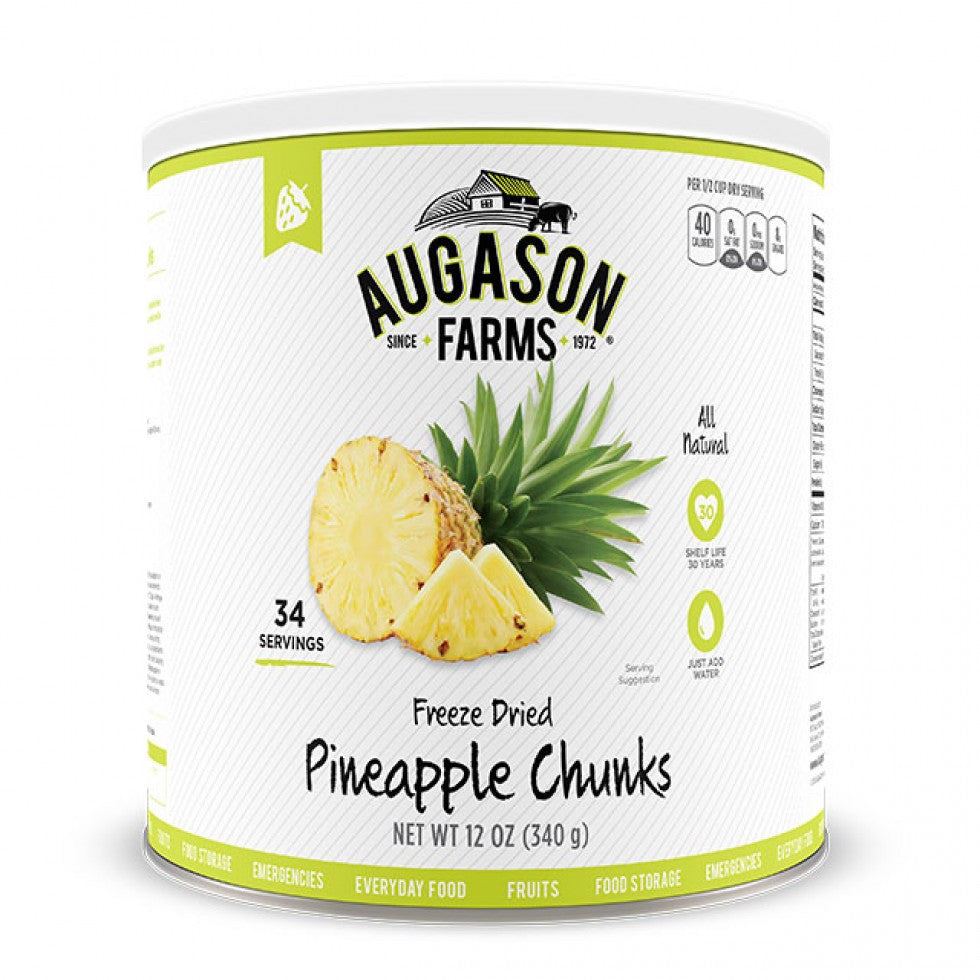 Auguson Farms Freeze Dried Pineapple Chunks
