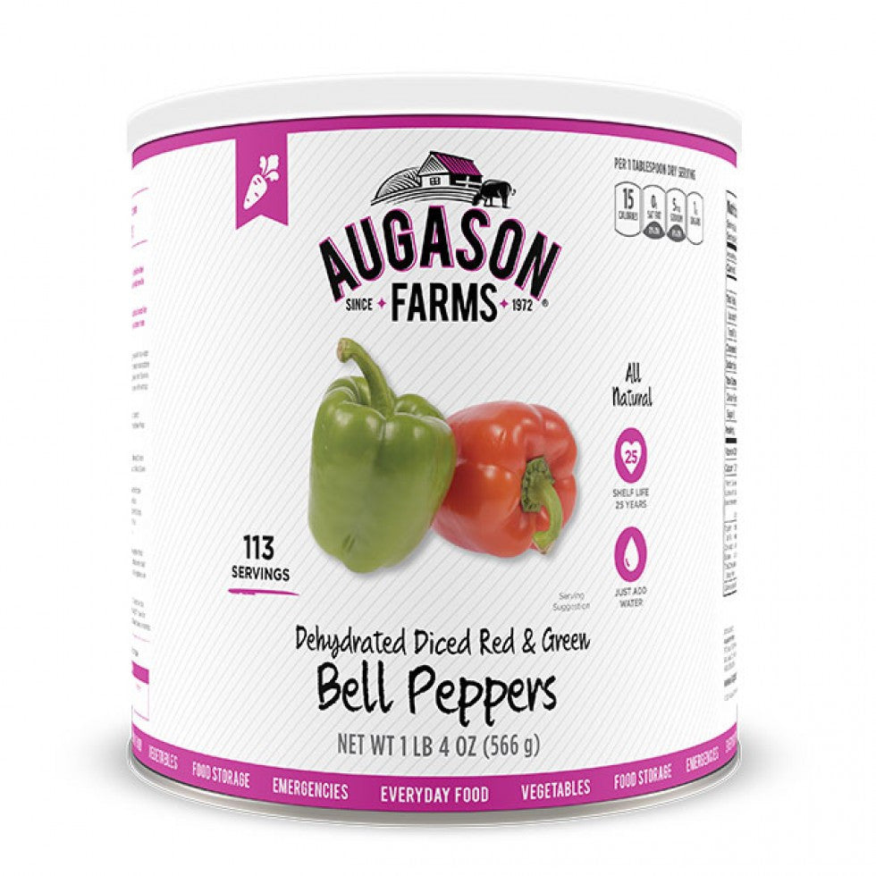 Auguson Farms Dehydrated Diced Red & Green Bell Peppers