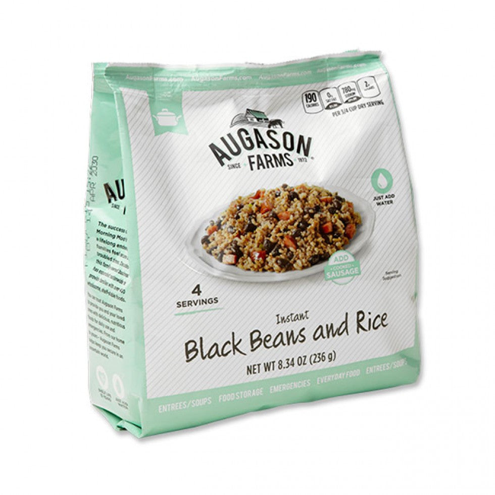 Augason Farms Instant Black Beans and Rice