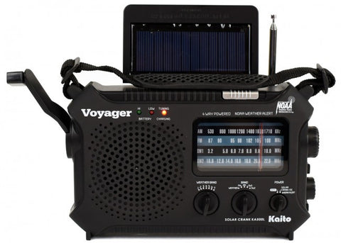 Kaito KA500L 4-Way Powered Emergency AM/FM/SW NOAA Weather Alert Radio