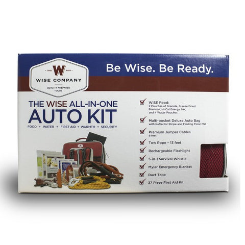 Wise Car Vehicle Emergency Survival Kit with Jumper Cables