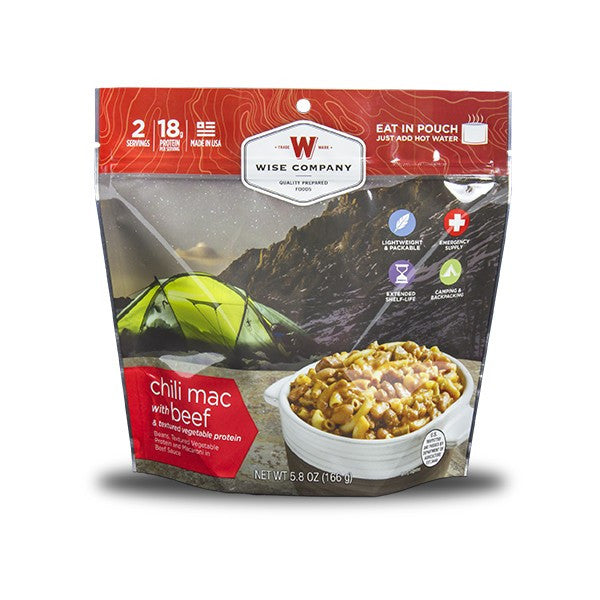 Wise Foods Chili Mac With Beef Camping Food