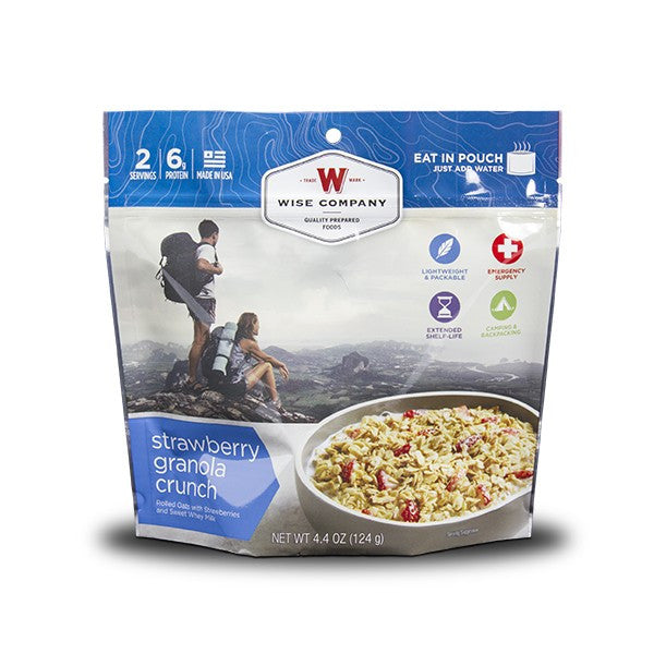 Wise Foods Strawberry Granola Crunch Camping Food