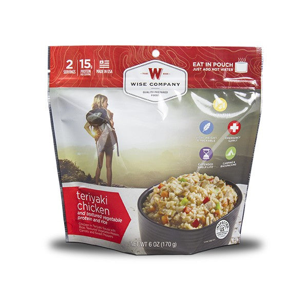 Wise Foods Teriyaki Chicken and Rice Camping Food