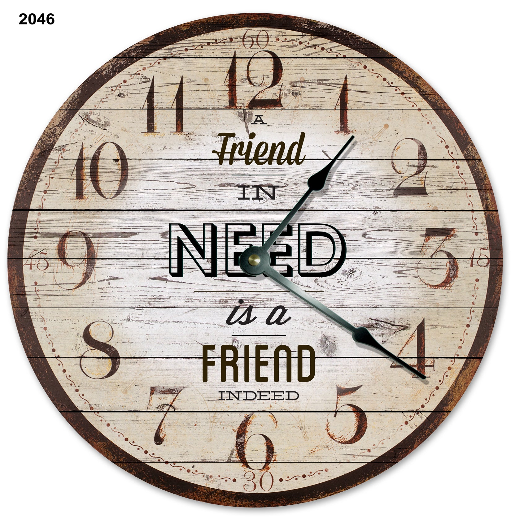 A Friend In Need Is A Friend Indeed Wall Clock