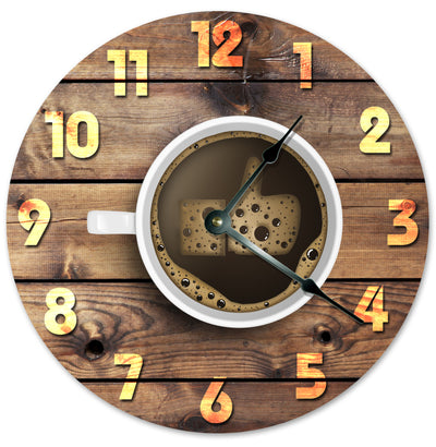 Brown Color Coffee Like Thumb Hanging Wall Clock