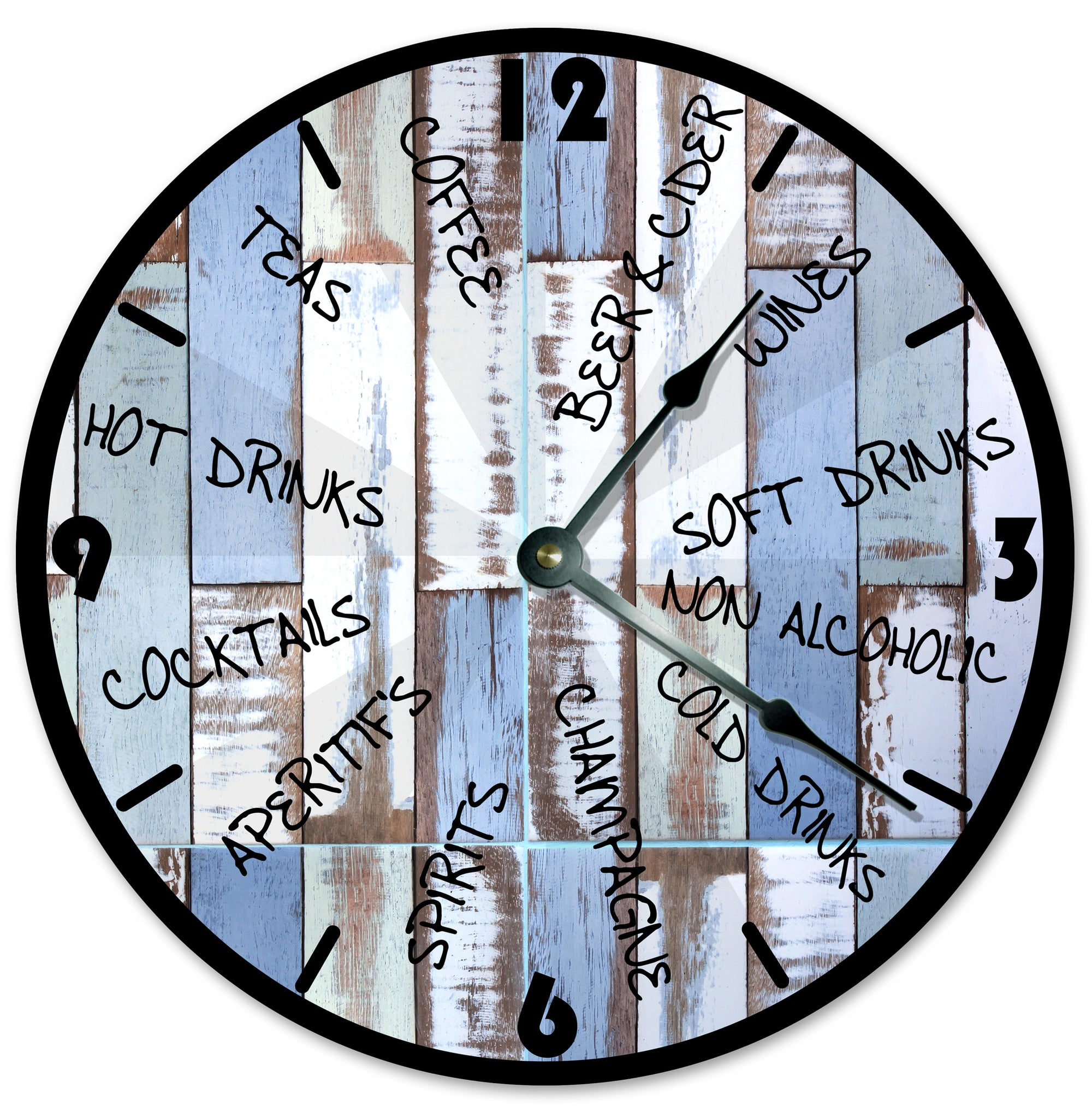 Driks Beach Wood Handmade Hanging Wall Clock