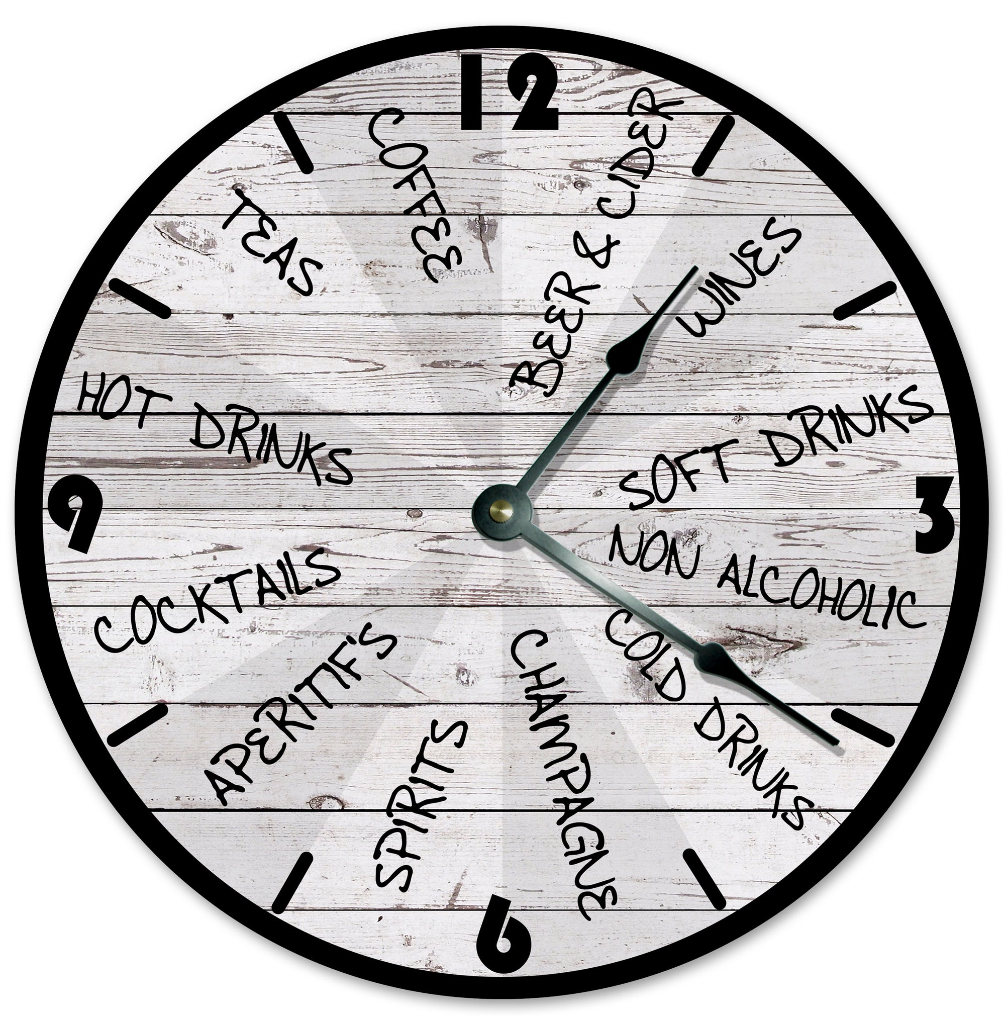 Happy Hour Drinks Hanging Wall Clock