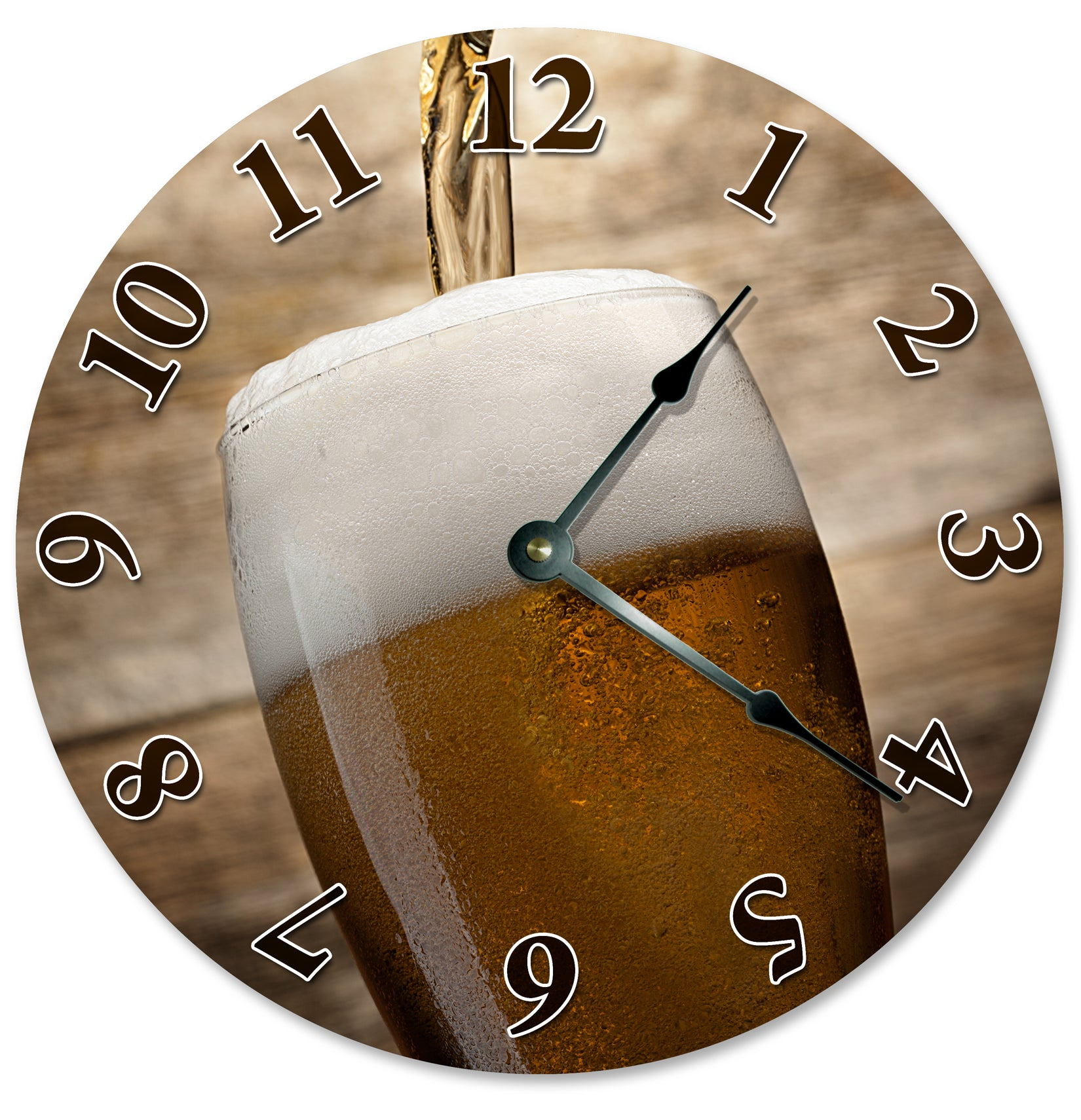 Drink Of Beer Glass Hanging Wall Clock