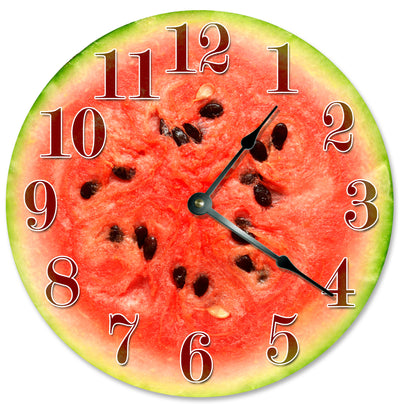 Red Color Watermelon Hanging Wall Clock