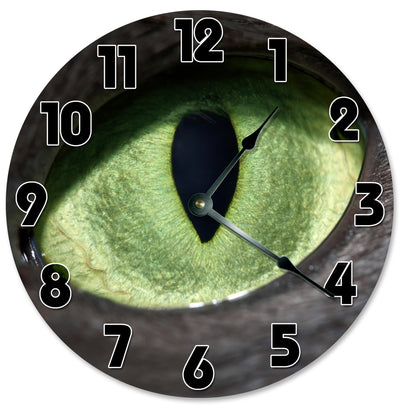 Green Cat Eye Decorative Round Hanging Wall Clock