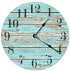 Decorative Old Blue Worn Wood Hanging Wall Clock