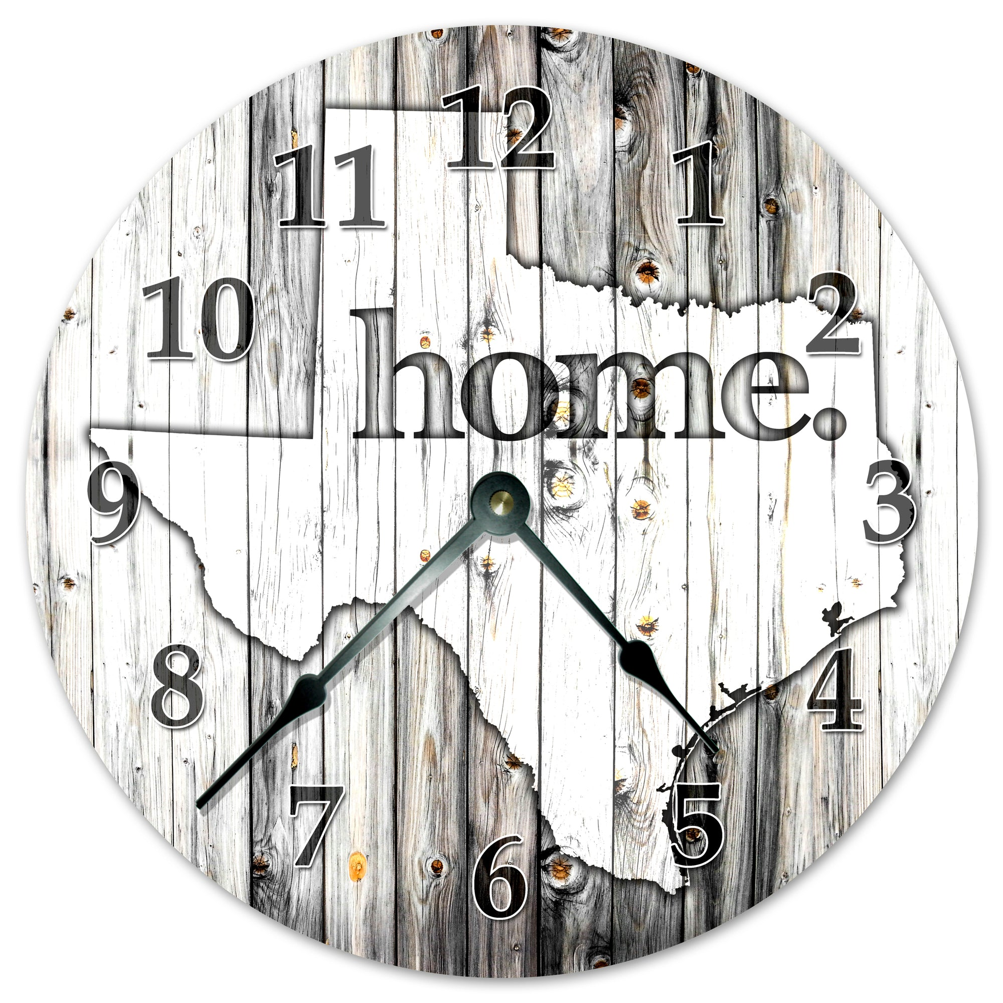 Texas Rustic Handmade Hanging Wall Clock