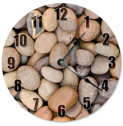 Brown Rocks And Stones Handmade Hanging Wall Clock