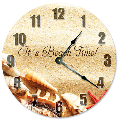 Its Beach Time Handmade Hanging Wall Clock