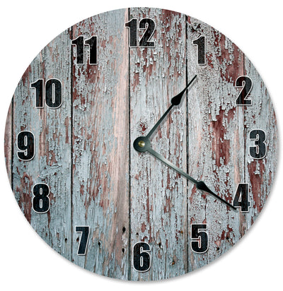 Rustic Old Wood Hanging Wall Clock