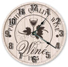 Glass Of Wine Handmade Hanging Wall Clock