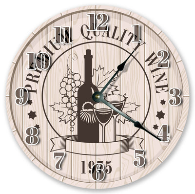 Wine For Two Handmade Hanging Wall Clock
