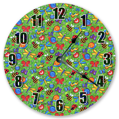 Insects Garden Party Hanging Wall Clock