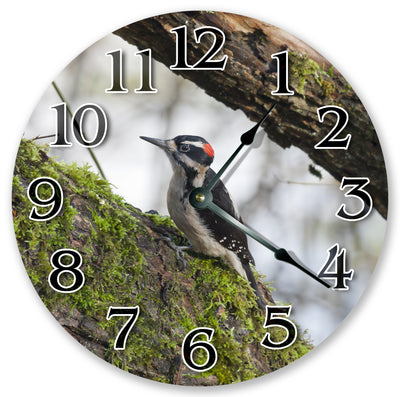 Wood Pecker Handmade Hanging Wall Clock