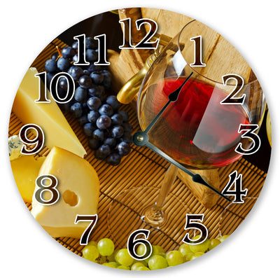 Wine With Fruits Handmade Hanging Wall Clock