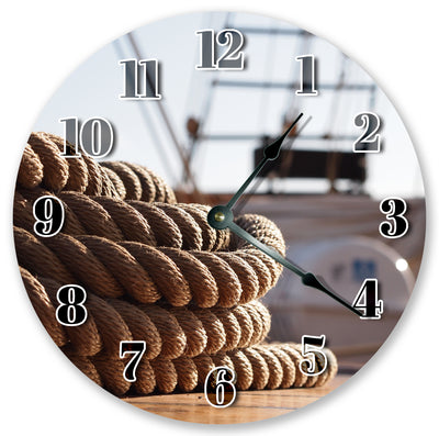 Brown Color Rope Handmade Hanging Wall Clock