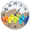 Colored Sandalls On The Sea Hanging Wall Clock