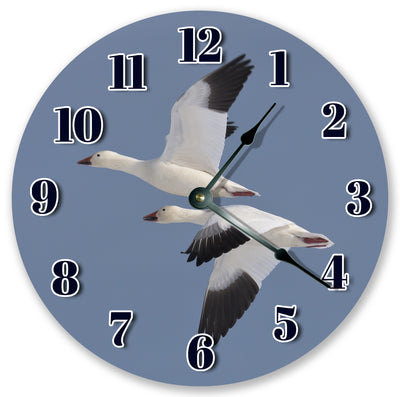 Flying Snow Goose Handmade Hanging Wall Clock